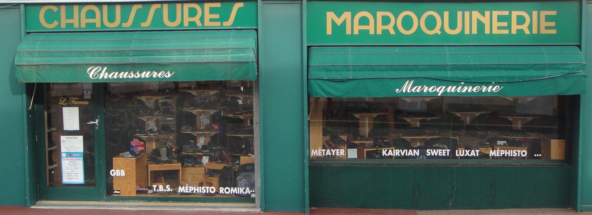 Bienvenue sur la boutique de Chaussures Maroquinerie L.Favreau